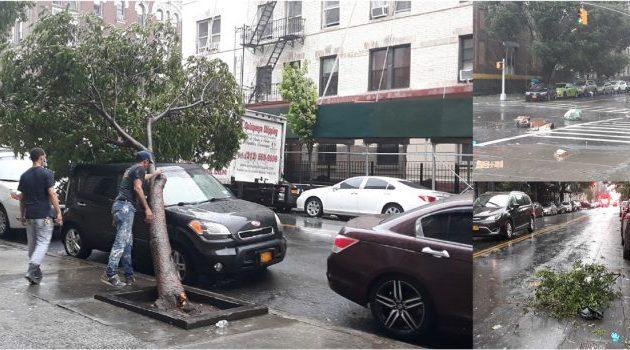 Huracán Isaías afecta zona metropolitana de NY