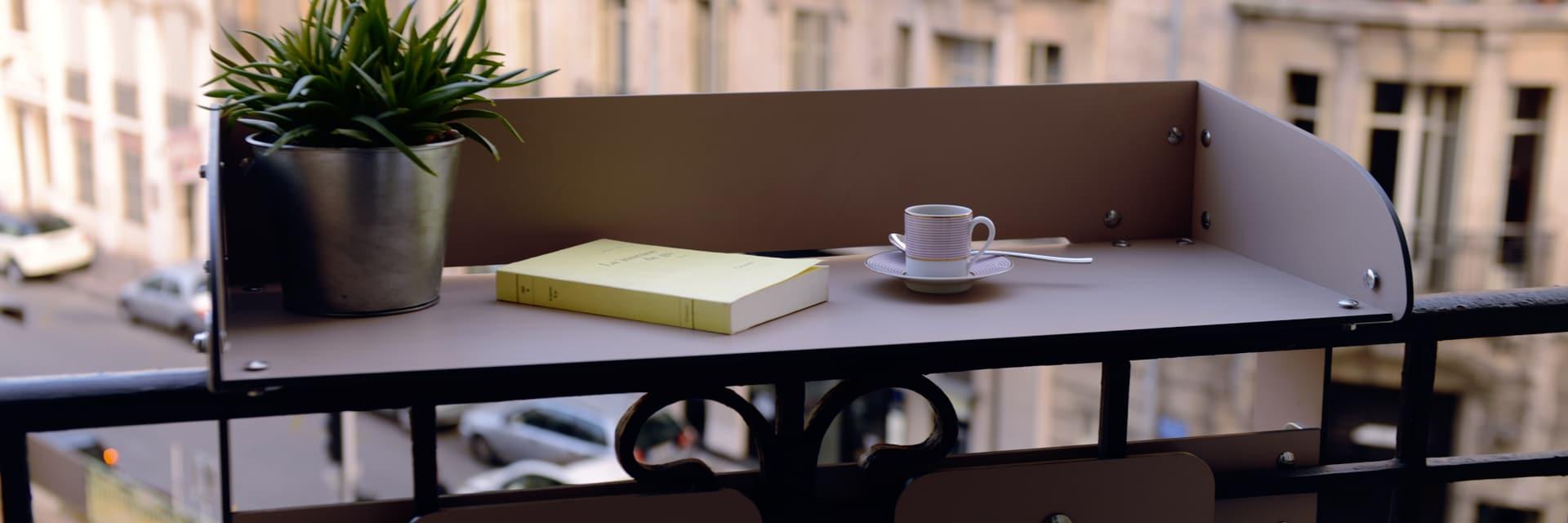 Table de balcon bar baracood