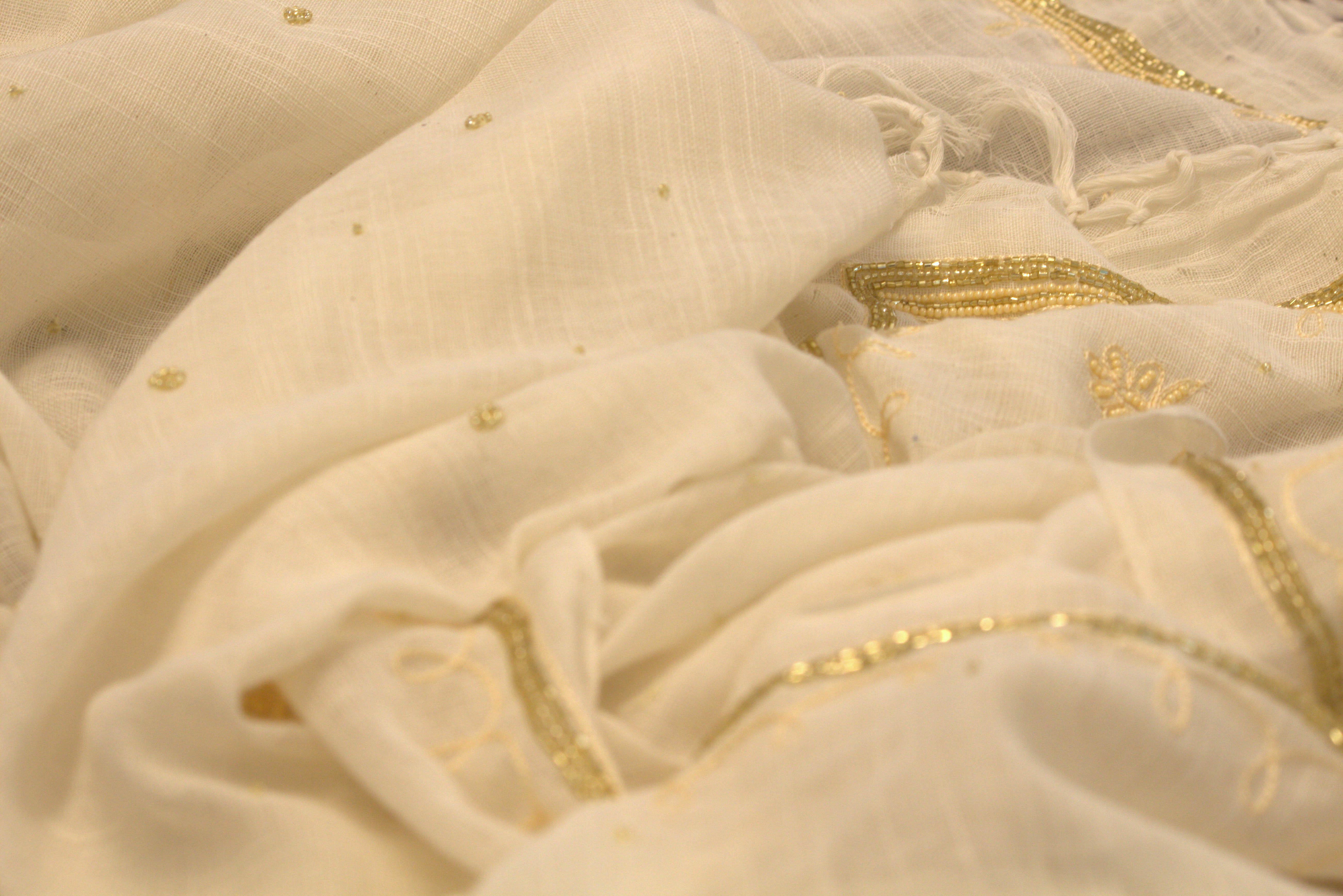 zardozi cotton handloom saree