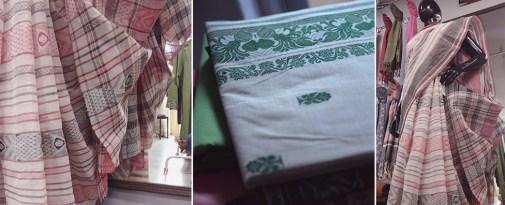 dhaniyakhali taant saree handmade
