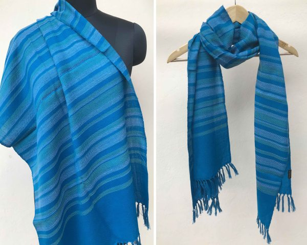 Handloom cotton scarf handmade handwoven linen in India pure wool