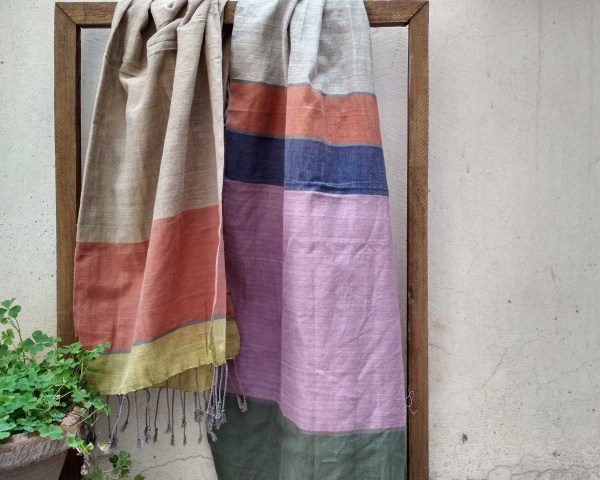 Handloom cotton scarf handmade handwoven in India