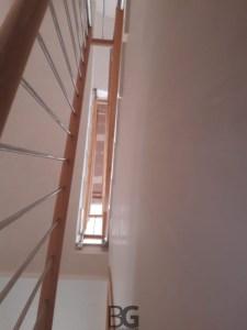 barandilla vertical inox y madera