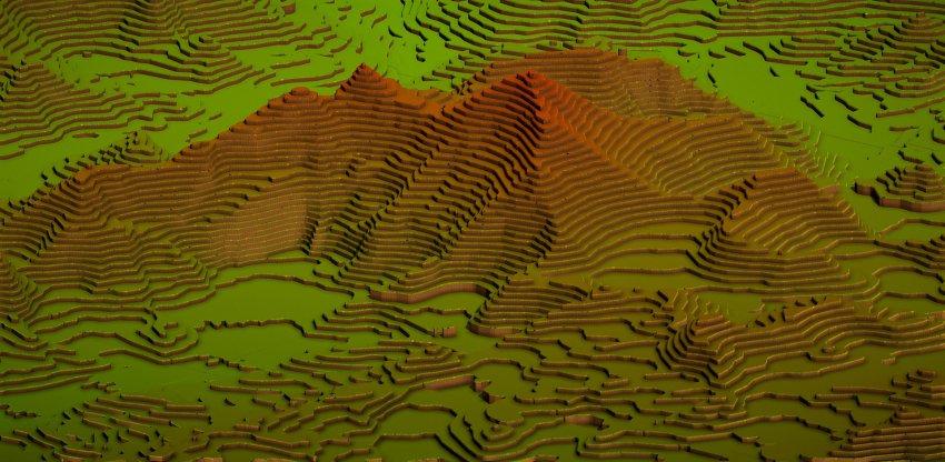 Mapbox Unity SDK Terraced terrain style
