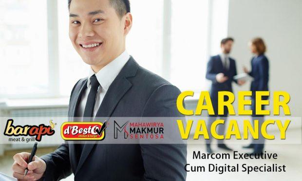 Job Vacancy Marcom Executive Cum Digital Specialist