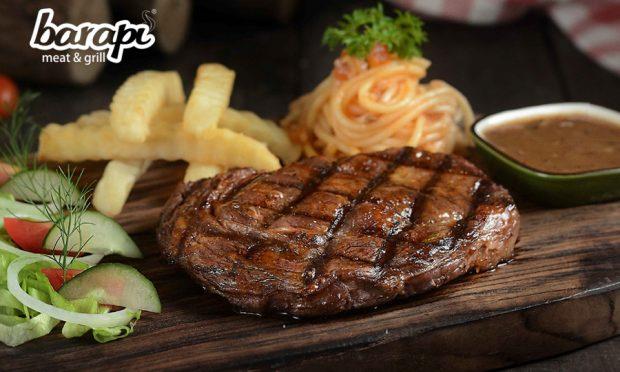 Sultan, Raffi Ahmad Makan Salt Bae Steak Senilai Rp 150 Juta