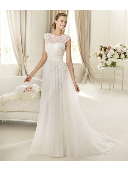diaphane wedding dresses