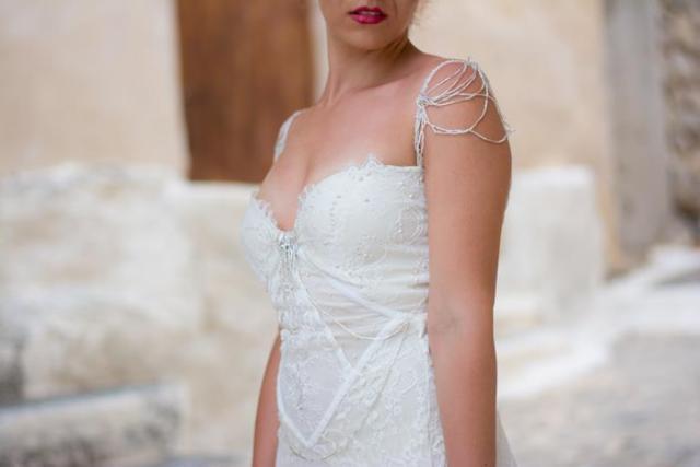 beaded bridal dress