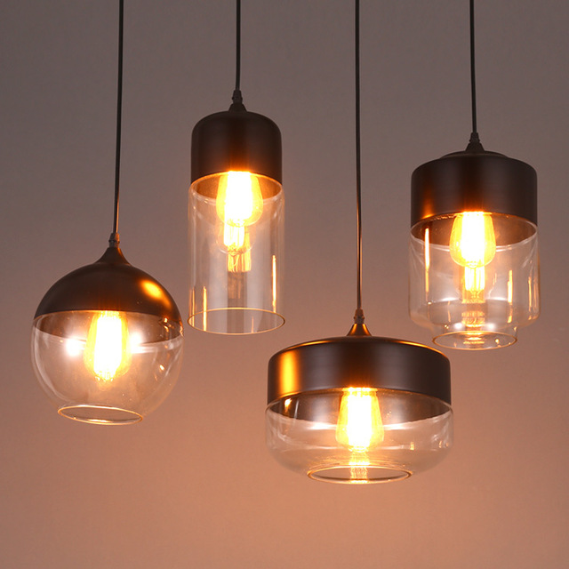 glass metal lights