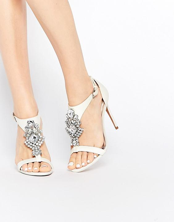 bridal sandals embellished