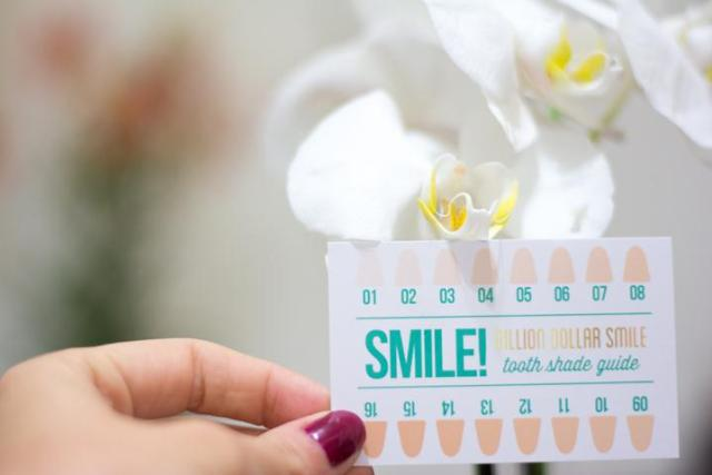 whitening teeth color chart