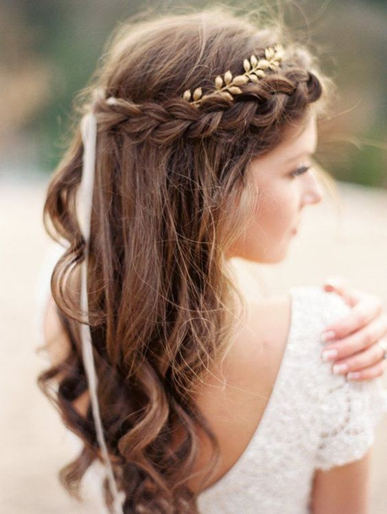rustic bridal hairstyle wedding