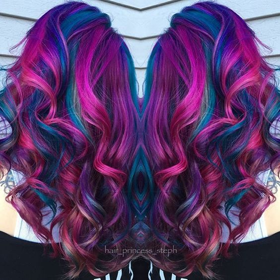 deep purple fuchsia hair