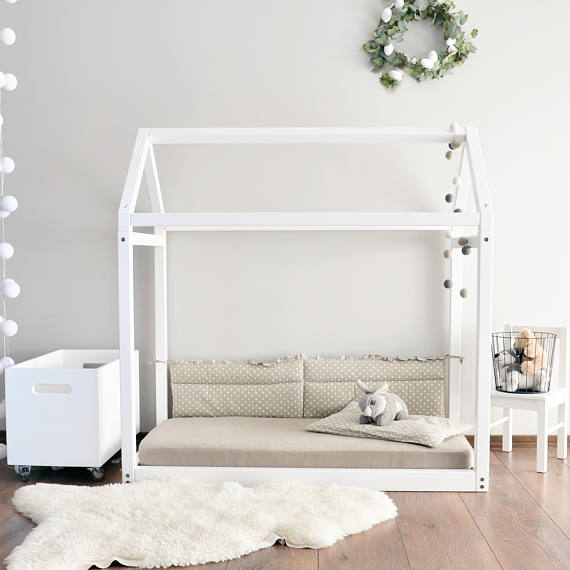 baby house wood bed