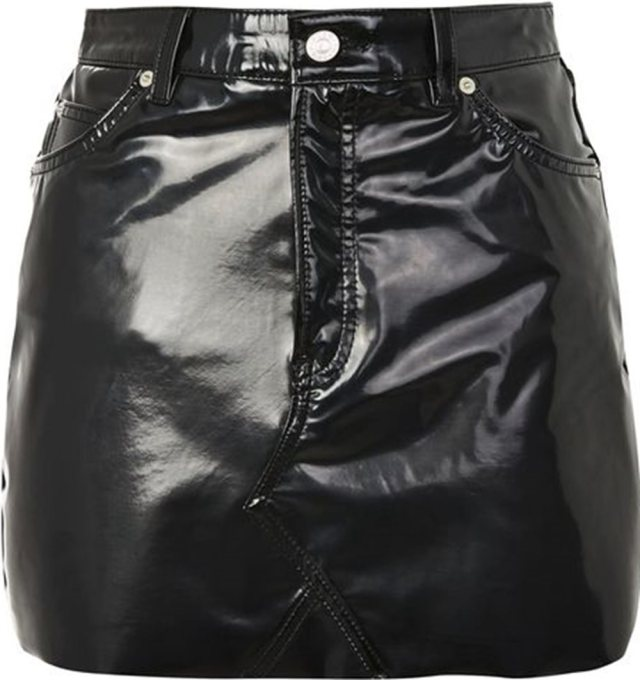 pu leather topshop skirt