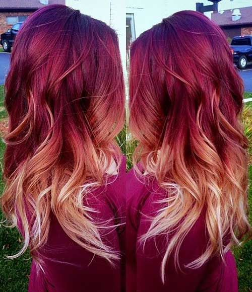 red orange ombre hair