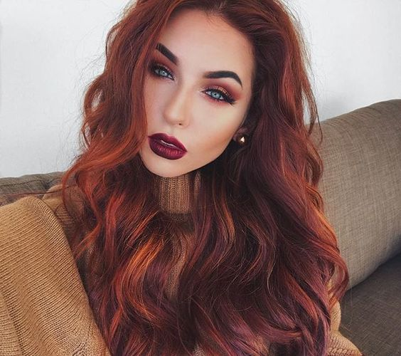 rusty red for autumn haircolor