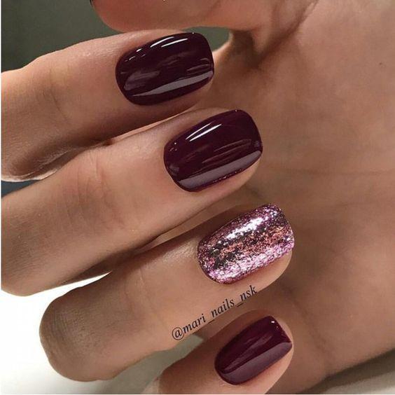 Autumn nail designs what to wear brar adriana delia fashion burgundy nails prinsesfo Images