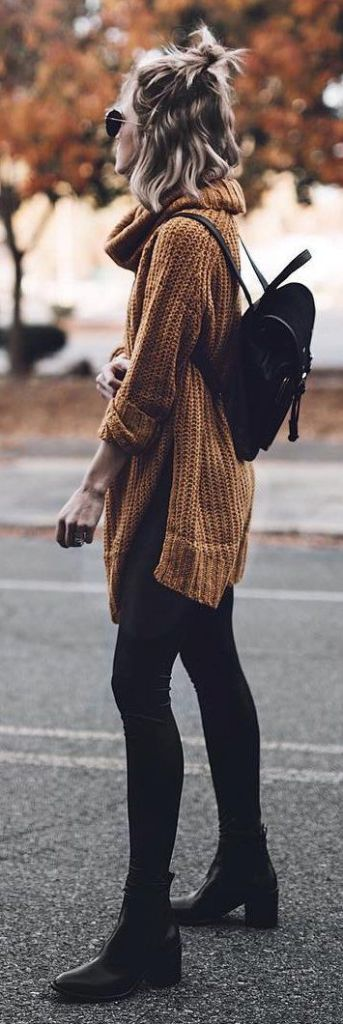 knitted sweater look