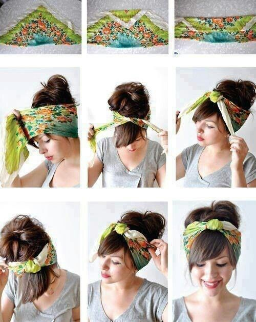 scarf hairstyle tutorial