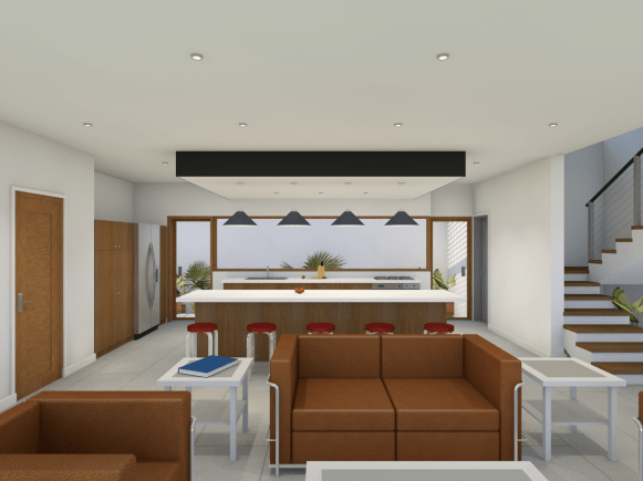 Warren Mottley House Render ofr Portfolio - Interior