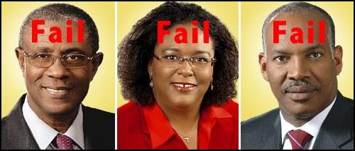 Former Transport Minister Gline Clark, Former Useless Attorneys General Mia Mottley & Dale Marshall