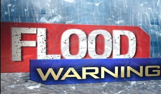 Flood warning in effect for northern and central areas