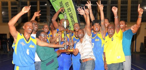 Barbados Lumber Company Lakers repeated as champions of the Co-operators General Insurance Barbados Amateur Basketball Association for the second consecutive year. (Picture by Morissa Lindsay)