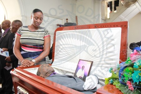 Acting President of the Carson Small Foundation Natalie Whitehall was among those viewing the body of the late broadcaster.