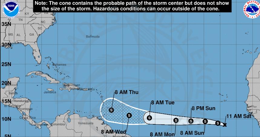 Tropical Storm Kirk churns to life
