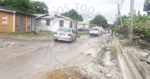 Road works on Flagstaff main road in St Michael.