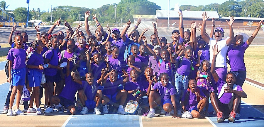 Purple House repeated as champions of George Lamming Primary inter-house sports for the second consecutive year.