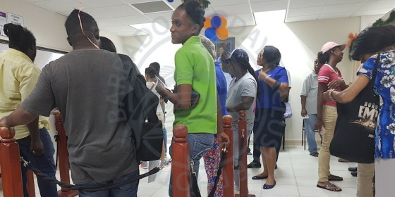 Throughout the day there was a long line at BRA's Weymouth, St Michael offices, as Barbadians took advantage of the extension of Government's tax amnesty programme.