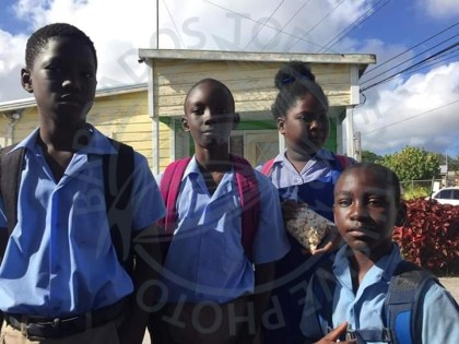 From left, Nathan Leon Blackman, Jaquon Blackman, Natalia Leon Blackman, and Jerome Forde, have captured national attention for their good deed.