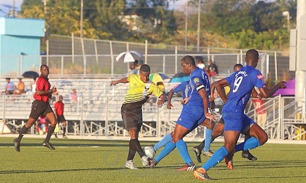 Paradise defeated UWI and their defence led by captain Barry Skeete wearing the captain's armband did well to deny any goals from getting past his watch.