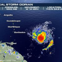 2 a.m. Update: Tropical Storm Dorian continues progression towards Barbados
