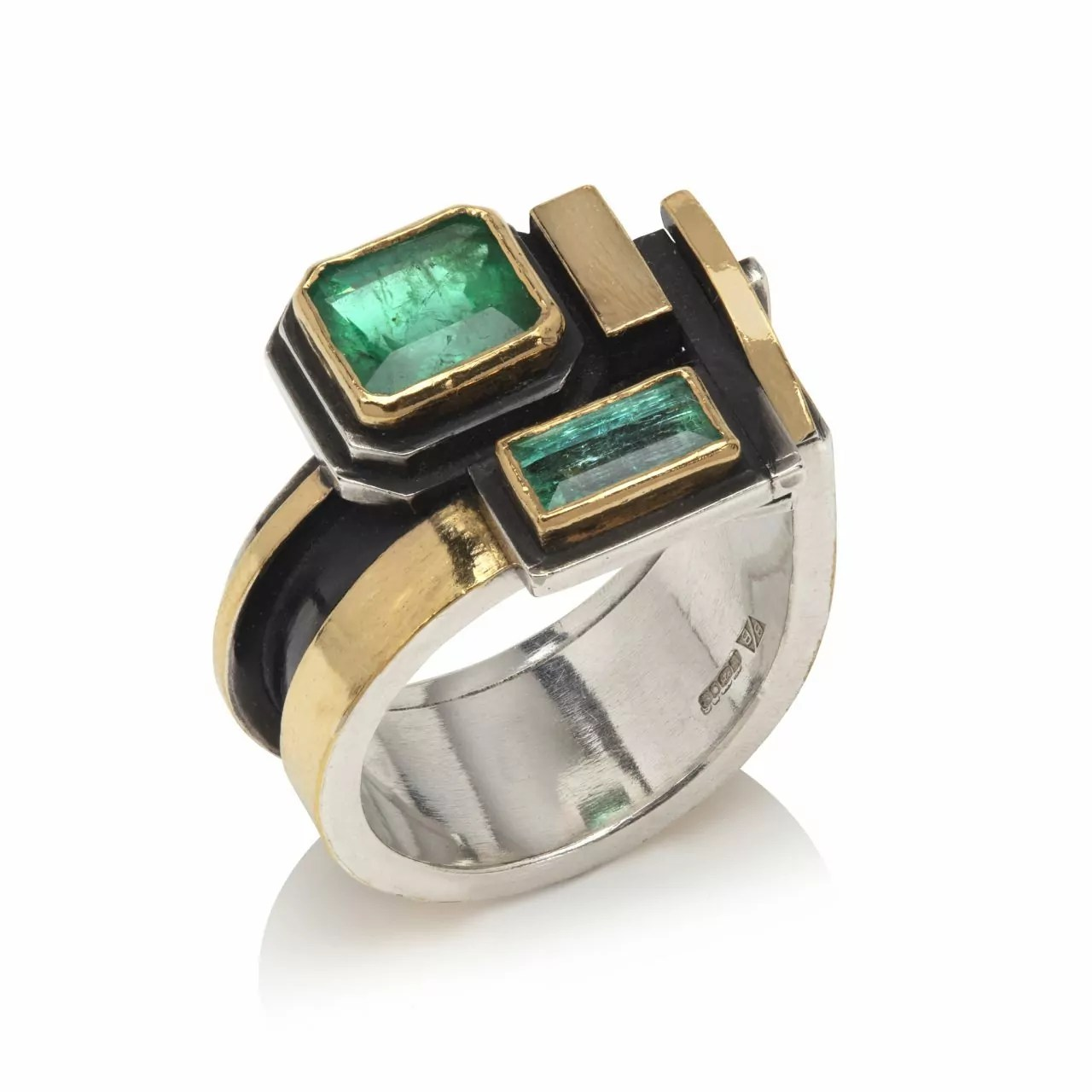 Ring with Emeralds