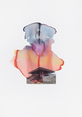 Pagoda - Watercolour collage 2012: 50x35cm
