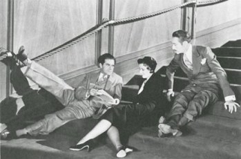 With Frank Capra on the set