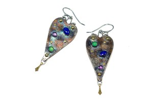 Metal Work - Earrings - Heart To Heart - Revised