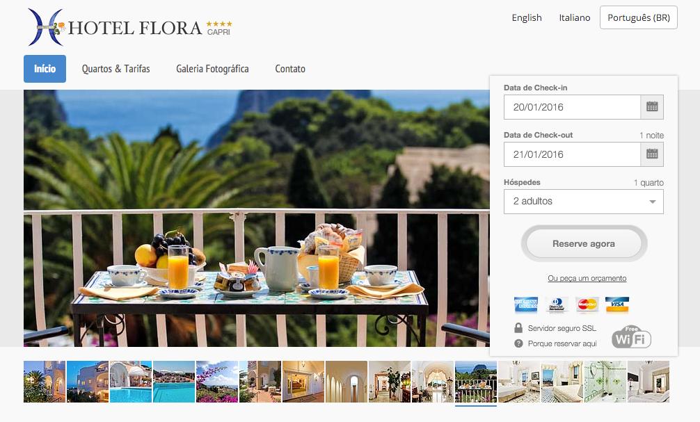 Hotel Flora Capri in Portoghese