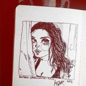 Desenho feito a mão por Larry Cavalcante
