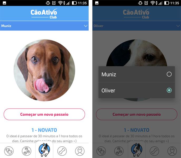 Aplicativo CãoAtivo - Acompanhe os passeios do seu cão com Cão Ativo