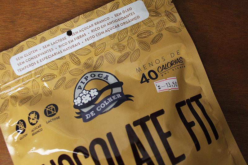 Pipoca de Colher - Chocolate Fit - Cacau e Canela
