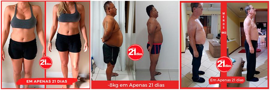 Antes e Depois Dieta de 21 dias