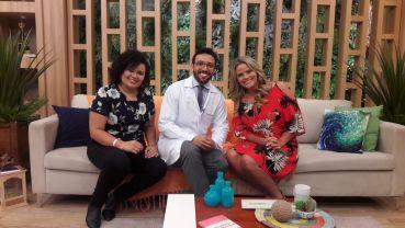Blogueira Bárbara Cavalcante no programa Manhã Leve da TV Aparecida