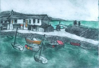 The Cobb, Lyme Regis - Etching