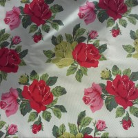 Watermelon linen Hawthorn in an English country garden