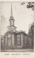 The First Christian Church on North Main Avenue in Scranton, inspiration for the Providence Christian Church