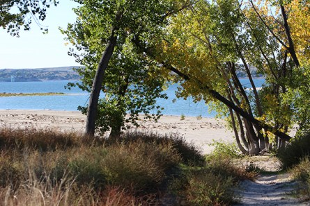 Beautiful sandy beaches of Lake McConaughy, near Ogallala, Nebraska